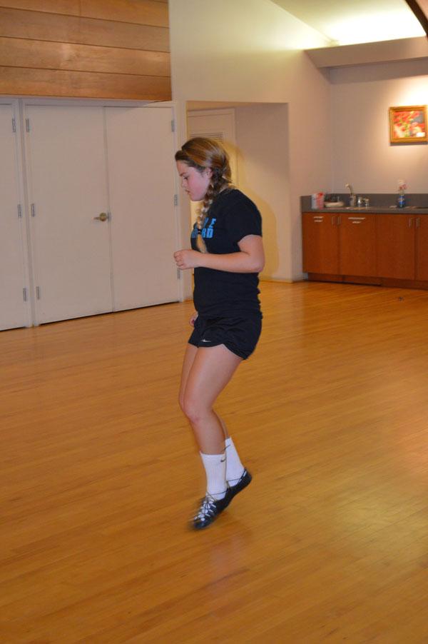 Sophomore Larkin McDermott shows off her skills in soft dance shoes.