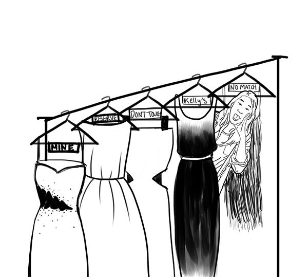 "The ""possess the dress"" mentality is spurred by an irrational fear of conformity."