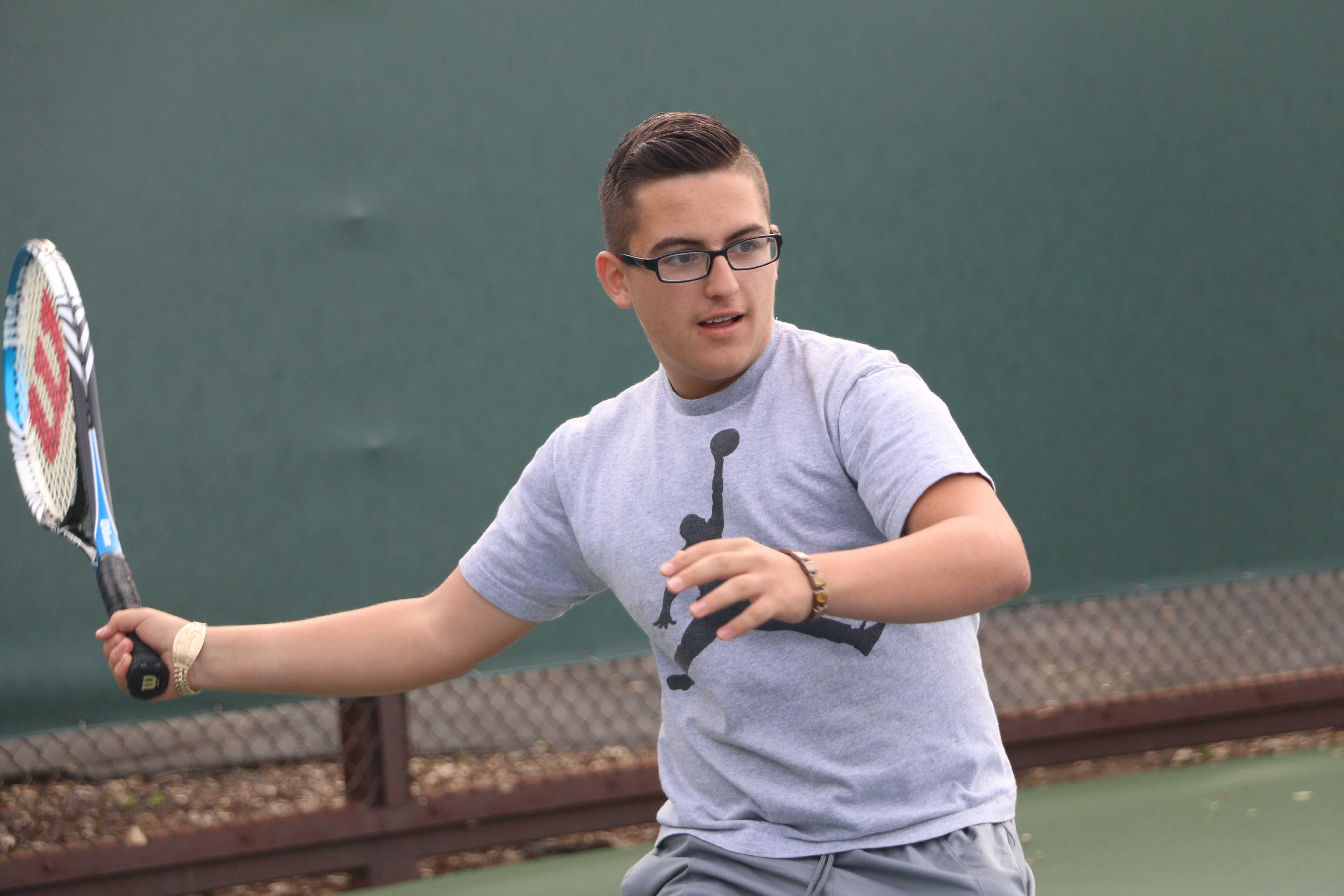 Paly freshman Ezequiel Vasquez prepares to swing.