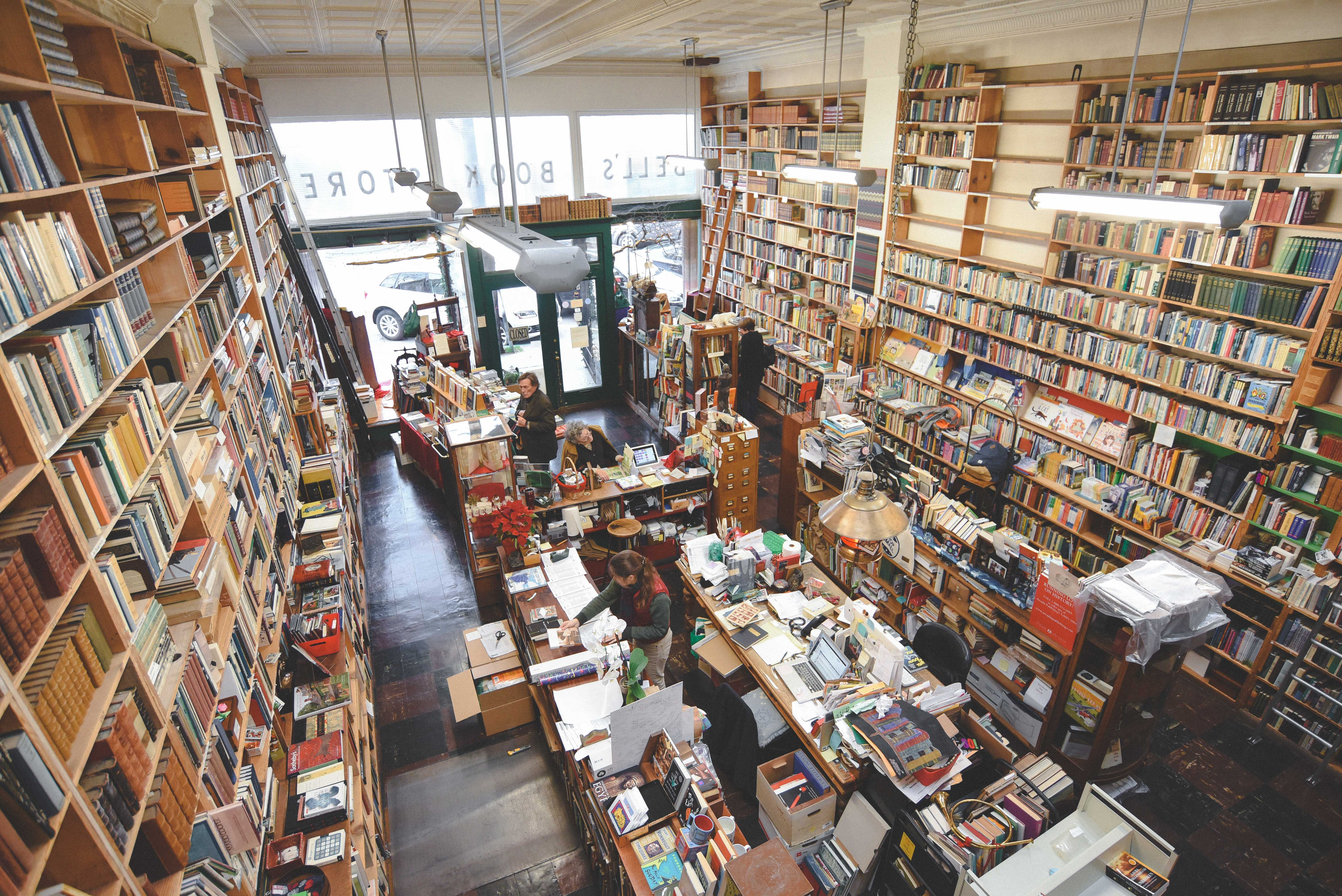 A balcony shot captures the scenery of the bookstore below. Photo by James Poe.
