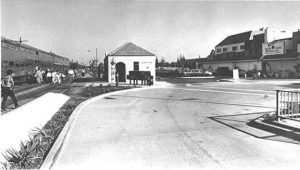 California Avenue Railroad Station and Palo Alto Central Condominiums, 1984